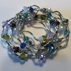 Jewelry - Crystal and sterling bracelet set